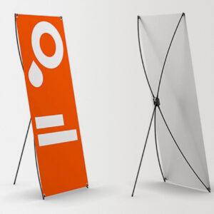 Баннерный стенд JUST X Fast, рекламное поле 80 х 180 см