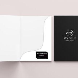 """папка для студии красоты """"My Self"""""""