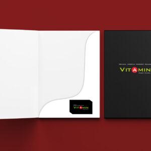 """папка для рекламного агентства """"Vitamin"""""""