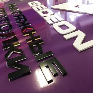 Плоские буквы на композитной основе