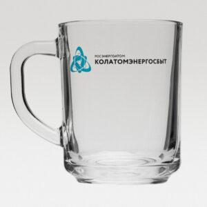 Кружка Enjoy, прозрачная с нанесением логотипа