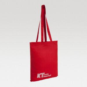 Красная холщовая сумка с нанесением