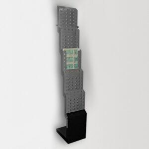 Мобильная Брошюрная стойка JUST Swing, металл, 5 карманов А4