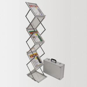 Мобильная Брошюрная стойка JUST Swing ZigZag, 6 карманов А4