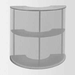 Мобильный ресепшен JUST Counter Lux, скругленный, ДСП
