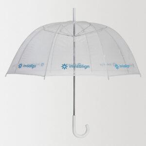 Прозрачный зонт-трость Clear с нанесением логотипа