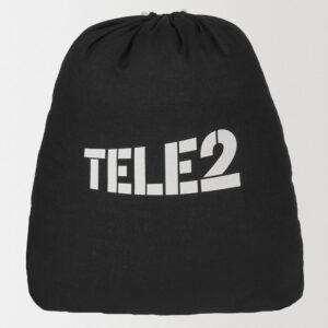 Рюкзак черный из хлопка с нанесением логотипа