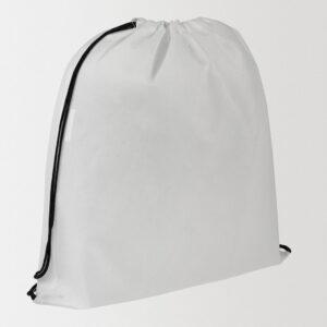 Рюкзак белый из спандбонда с нанесением логотипа